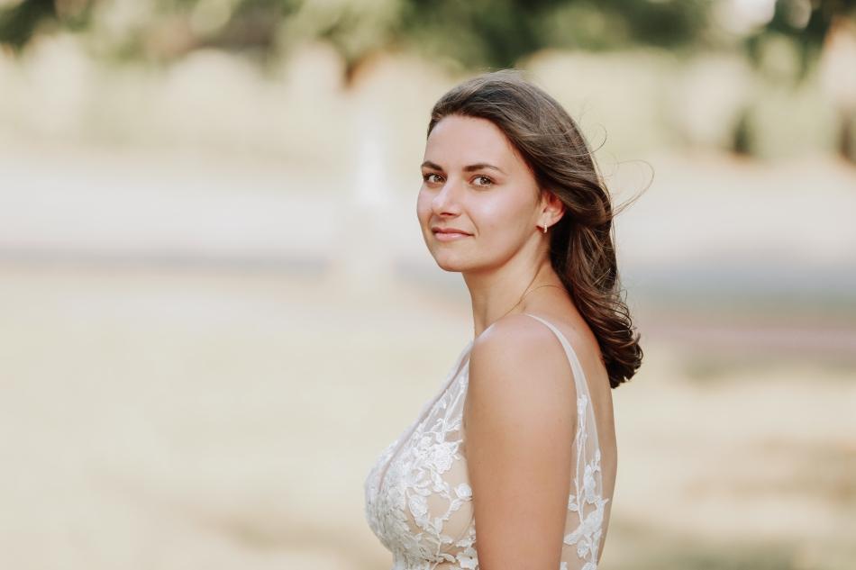 mariee dans le jardin de deauville